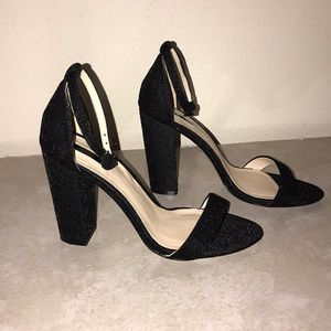 Forever 21 Black Shimmering High Heels